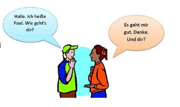Тема Знакомство В Немецком Языке