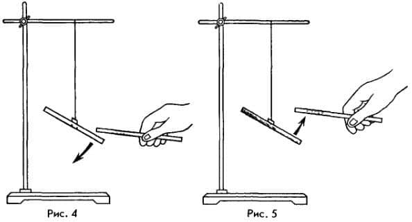 притяжение и отталкивание наэлектризованных тел