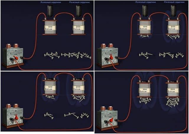 способы увеличения силы электромагнита
