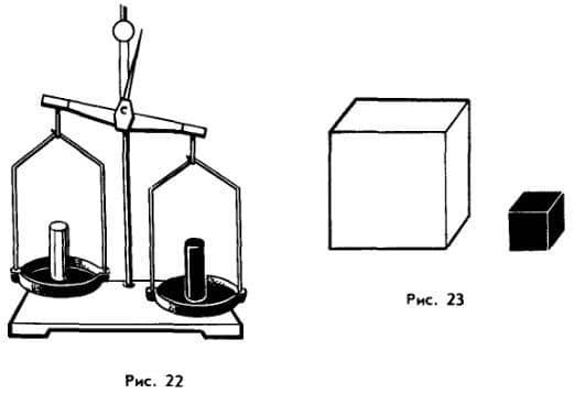 сравнение плотностей по известным массе и объему