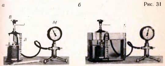 эксперимент для проверки уравнения состояния идеального газа