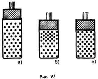 поведение молекул газа при увеличении давления