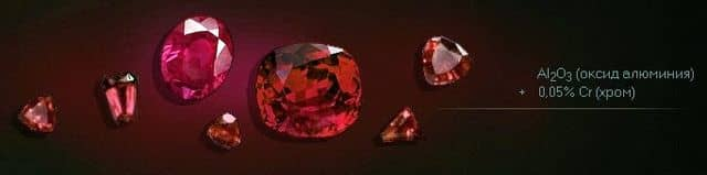 рубин - лазерно-активный минерал