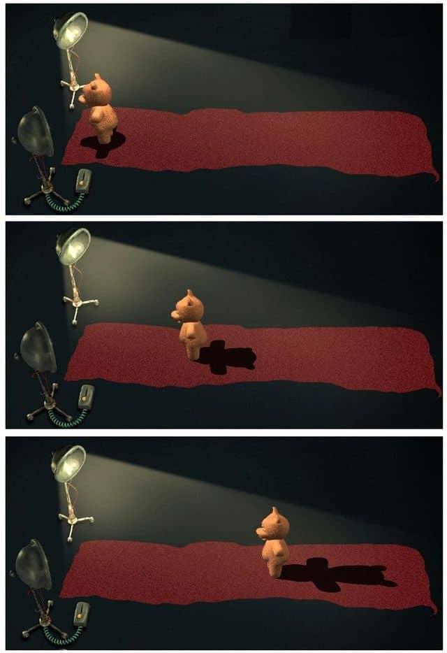 зависимость размера тени от удаления от источника света