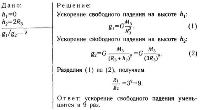 Решение задач ускорение свободного падения решение задач по теоретической механике тема динамика