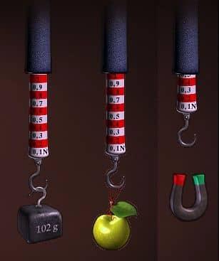 измерение силы с помощью пружины